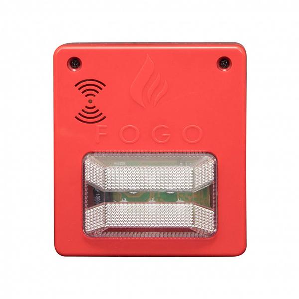 Sinalizador audiovisual com sirene 12V/24V Convencional