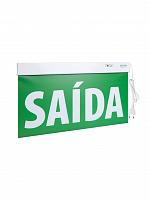 Sinalização Saída PREMIUM 60x30cm verde com seletor e adesivo DF (Doble Faz)