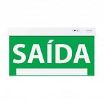 Sinalização Saída SLIM Face Única 50x25cm verde com seletor e adesivo