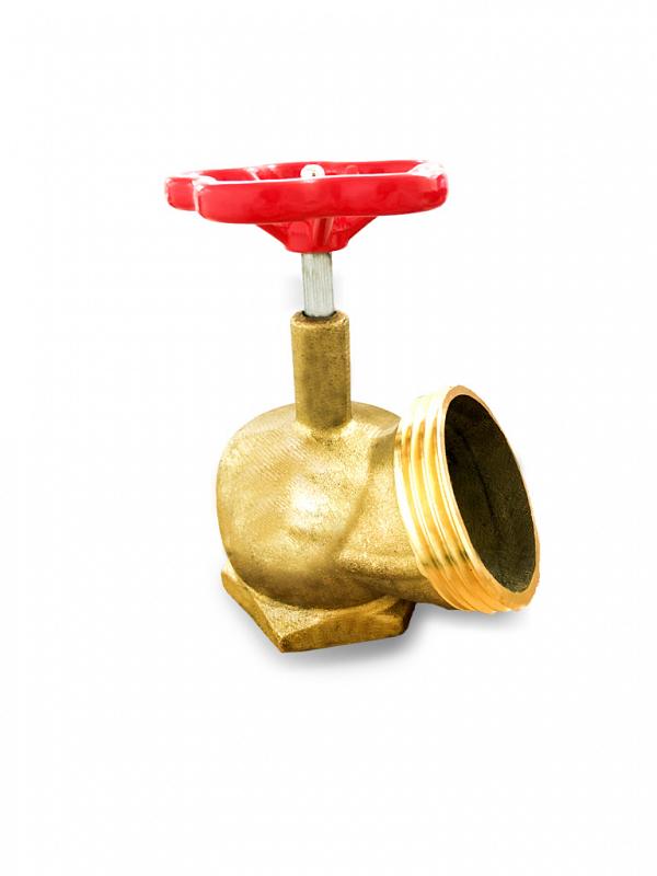Válvula angular para hidrante (registro globo)  Latão