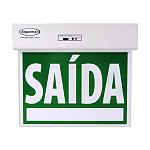 Sinalização Saída de Emergência Standard Face Única Verde Seletor e Adesivos