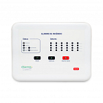 Central alarme incêndio Convencional - 24 setores - 24V