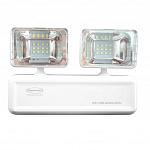 Iluminação emergência LED 1200 lumens 2 faróis 24vcc