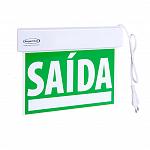 Sinalização saída SLIM Face Única verde emergência com adesivo